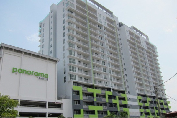For Rent Condominium at Panorama Residences, Sentul Freehold Unfurnished 3R/2B 1.5k