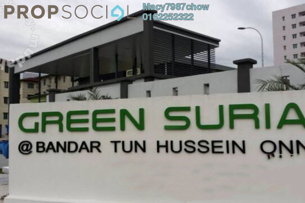 For Sale Apartment at Green Suria Apartment, Bandar Tun Hussein Onn Freehold Unfurnished 3R/2B 395k