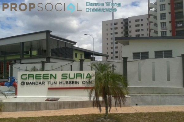 For Rent Apartment at Green Suria Apartment, Bandar Tun Hussein Onn Freehold Unfurnished 3R/2B 1k
