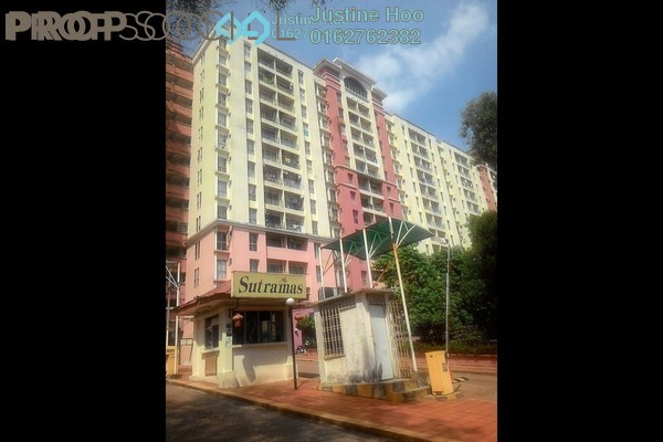 For Sale Apartment at Sutramas, Bandar Puchong Jaya Freehold Semi Furnished 3R/2B 338k