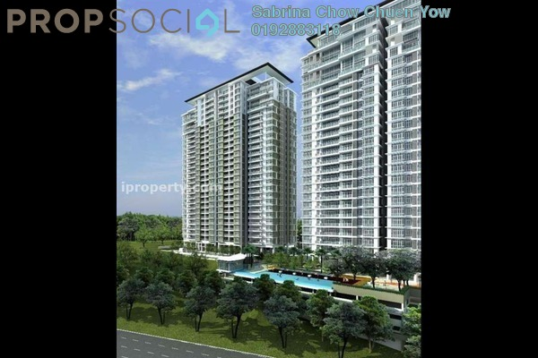 For Sale Condominium at The Park Residences, Bangsar South Leasehold Semi Furnished 3R/3B 1.55m