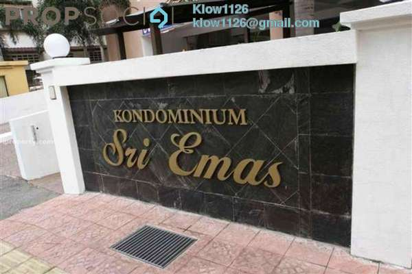 For Rent Condominium at Sri Emas, Pudu Freehold Fully Furnished 2R/2B 2.7k