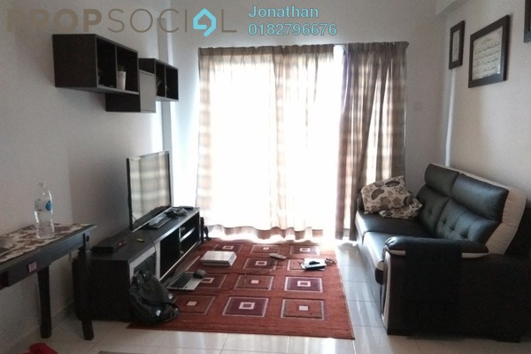 For Sale Apartment at Damai Apartment, Shah Alam Leasehold Fully Furnished 3R/2B 380k