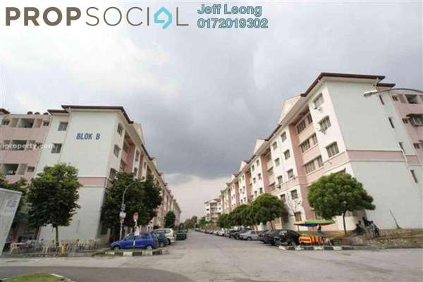 For Rent Apartment at Section 7, Shah Alam Leasehold Semi Furnished 3R/2B 1.1k