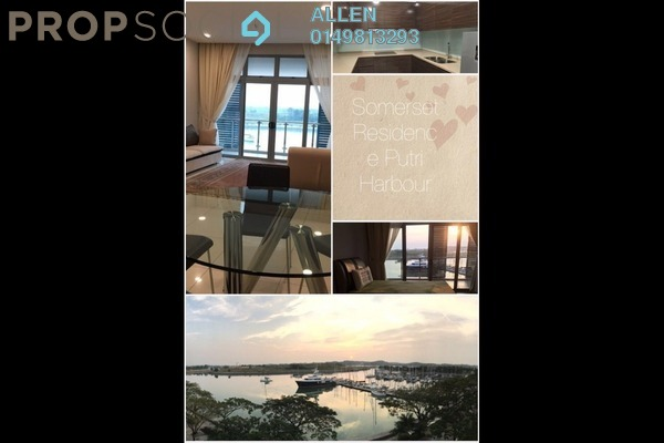 For Rent Serviced Residence at Somerset, Puteri Harbour Freehold Fully Furnished 3R/2B 4k