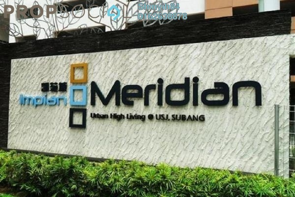 For Rent Condominium at Impian Meridian, UEP Subang Jaya Freehold Unfurnished 3R/2B 1.7k
