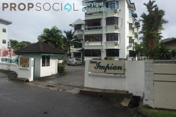 For Sale Apartment at Desa Impiana, Puchong Freehold Fully Furnished 3R/2B 720k