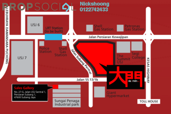 For Sale Condominium at Da Men, UEP Subang Jaya Freehold Unfurnished 2R/2B 980k