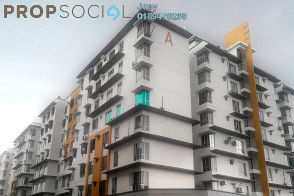 For Rent Apartment at 162 Residency, Selayang Leasehold Semi Furnished 3R/2B 1.1k