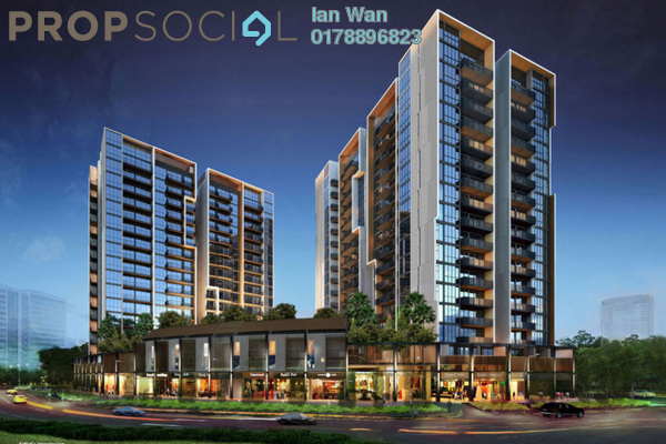 For Sale Condominium at Twin Palms, Bandar Sungai Long Freehold Unfurnished 3R/2B 393k