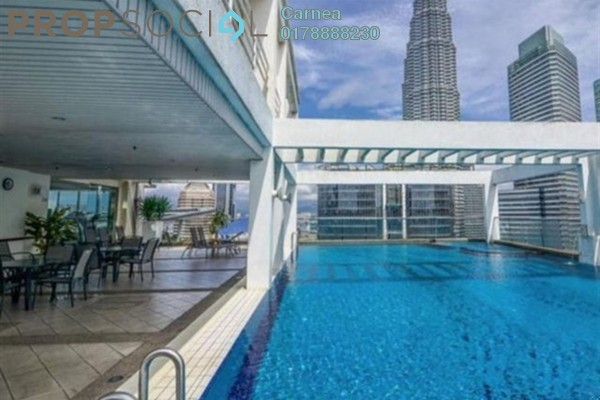 For Rent Condominium at Parkview, KLCC Freehold Fully Furnished 0R/1B 2.2k