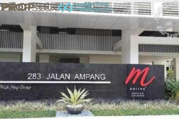 For Rent Condominium at M Suites, Ampang Hilir Freehold Fully Furnished 1R/1B 1.85k