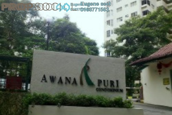 For Sale Condominium at Awana Puri, Cheras Freehold Semi Furnished 3R/2B 445k