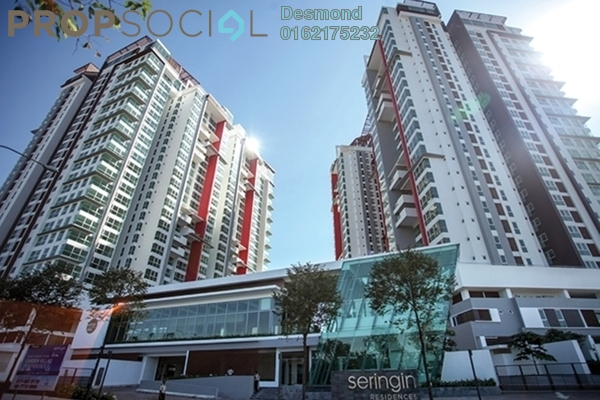 For Rent Condominium at Seringin Residences, Kuchai Lama Freehold Semi Furnished 3R/3B 2.85k