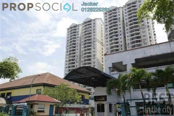 For Rent Condominium at Pandan Villa, Pandan Indah Leasehold Semi Furnished 3R/2B 1.2k