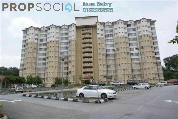For Rent Apartment at Merak Apartment, Bandar Kinrara Freehold Unfurnished 3R/2B 1k