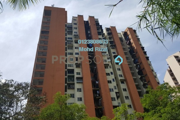 For Sale Apartment at Kondo Rakyat, Pantai Freehold Semi Furnished 3R/1B 180k