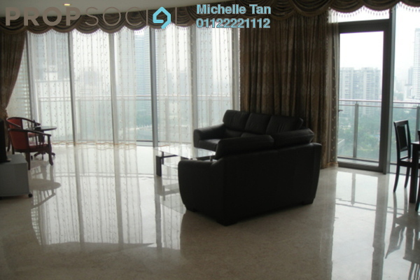 For Rent Condominium at K Residence, KLCC Freehold Fully Furnished 3R/4B 11k