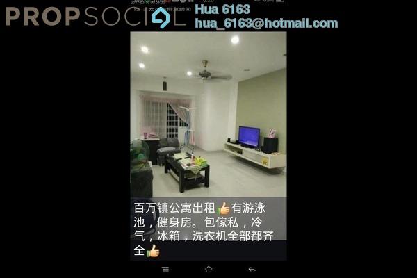 For Rent Apartment at Permas 11, Bandar Baru Permas Jaya Freehold Semi Furnished 3R/2B 1.2k