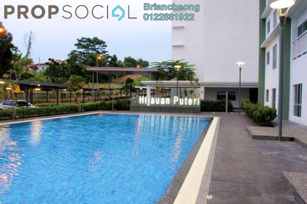 For Sale Condominium at Hijauan Puteri, Bandar Puteri Puchong Freehold Fully Furnished 3R/2B 430k
