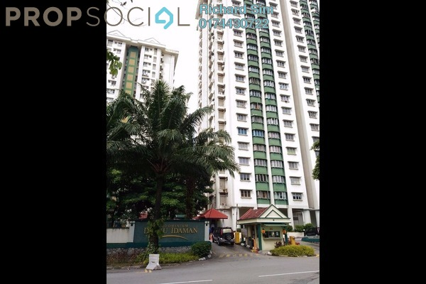 For Sale Condominium at Danau Idaman, Taman Desa Leasehold Semi Furnished 3R/2B 400k