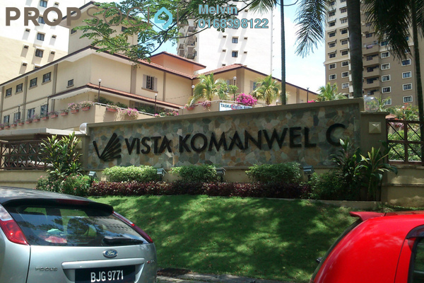 For Sale Condominium at Vista Komanwel, Bukit Jalil Freehold Fully Furnished 3R/2B 560k