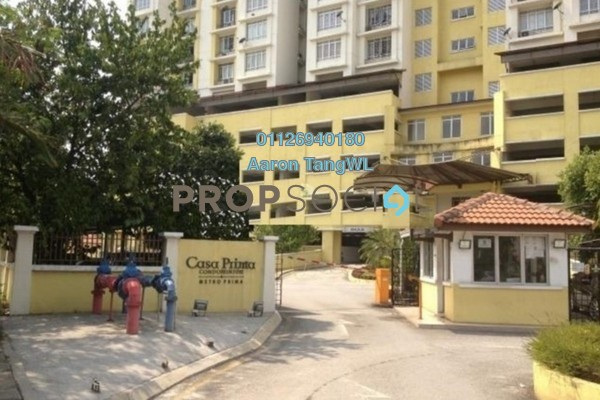 For Rent Condominium at Casa Prima, Kepong Leasehold Semi Furnished 3R/2B 1.7k
