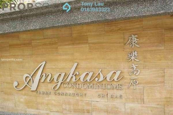For Rent Condominium at Angkasa Condominiums, Cheras Freehold Unfurnished 3R/2B 1.4k