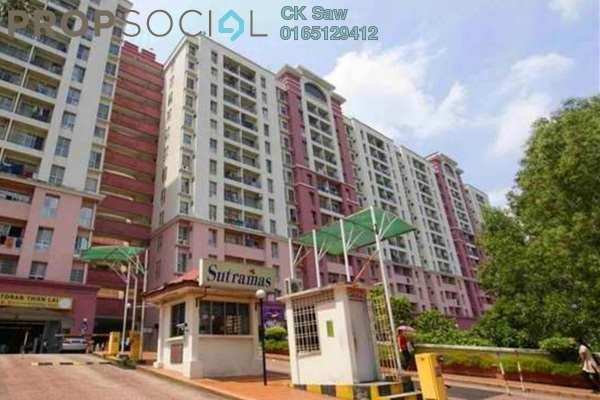 For Sale Apartment at Sutramas, Bandar Puchong Jaya Freehold Semi Furnished 3R/2B 330k