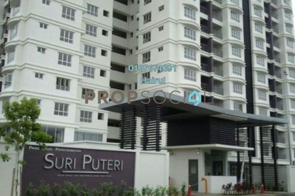 For Sale Serviced Residence at Suri Puteri, Shah Alam Leasehold Semi Furnished 3R/2B 415k