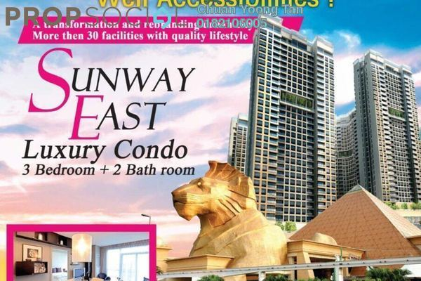 For Sale Condominium at Sunway Pyramid, Bandar Sunway Leasehold Semi Furnished 3R/2B 450k