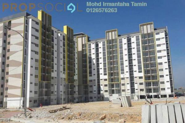 For Sale Apartment at Seri Pinang Apartment, Setia Alam Freehold Unfurnished 3R/3B 310k