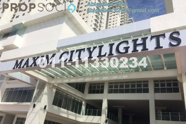 For Rent Condominium at Maxim Citilights, Sentul Leasehold Semi Furnished 2R/2B 1.1k