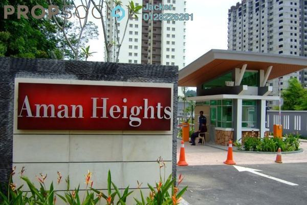 For Rent Condominium at Aman Heights, Seri Kembangan Freehold Semi Furnished 4R/2B 1.15k