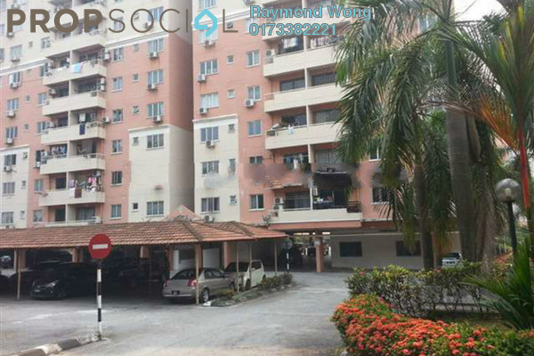 For Rent Condominium at Pelangi Heights, Klang Freehold Semi Furnished 3R/2B 1.2k