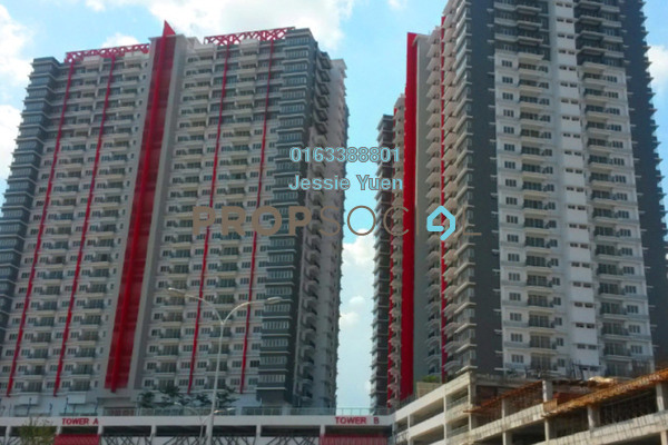 For Rent Condominium at Koi Prima, Puchong Leasehold Semi Furnished 3R/2B 1.4k