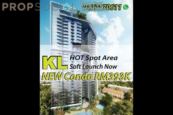 For Sale Condominium at Rica Residence, Sentul Freehold Unfurnished 2R/2B 544k