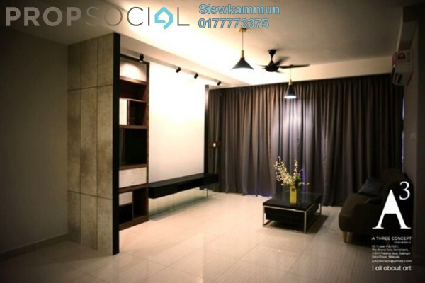 For Rent Condominium at Damansara Foresta, Bandar Sri Damansara Freehold Semi Furnished 4R/3B 2.2k