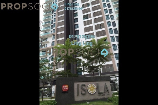 For Rent Condominium at Isola, Subang Jaya Freehold Semi Furnished 3R/3B 4k