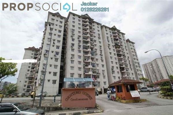 For Rent Condominium at Genting Court, Setapak Leasehold Semi Furnished 3R/2B 1.2k