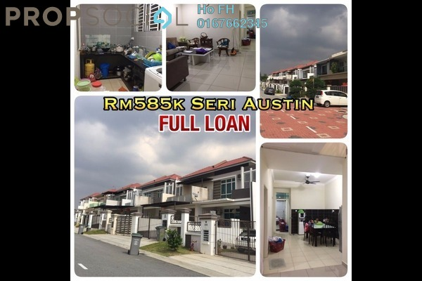 For Sale Terrace at Ametrine, Seri Austin Freehold Semi Furnished 4R/3B 585k