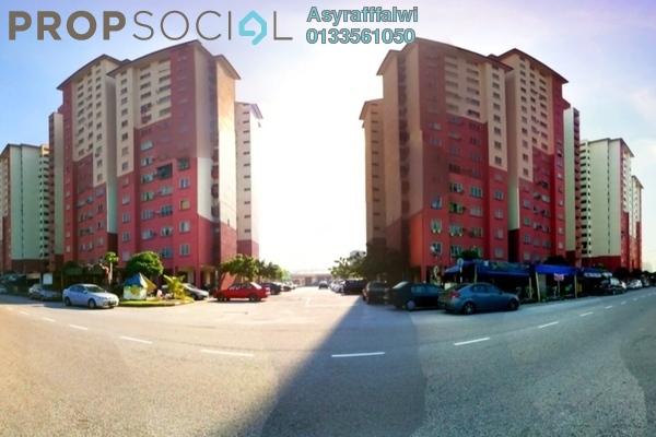 For Rent Apartment at PPR Pantai Ria, Pantai Freehold Semi Furnished 3R/2B 1.1k