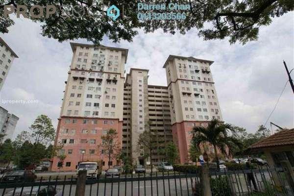 For Rent Apartment at Taman Sri Sentosa, Old Klang Road Leasehold Semi Furnished 3R/2B 1.2k