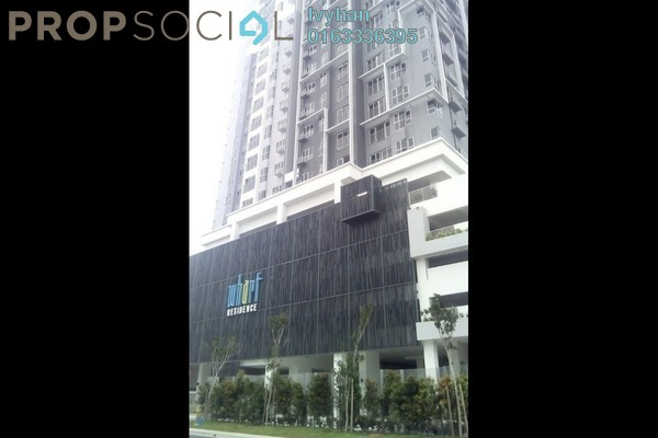 For Rent Serviced Residence at The Wharf, Puchong Leasehold Semi Furnished 2R/2B 1.1k