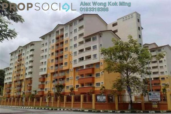 For Rent Apartment at Serdang Villa Apartment, Seri Kembangan Freehold Fully Furnished 3R/2B 1.2k