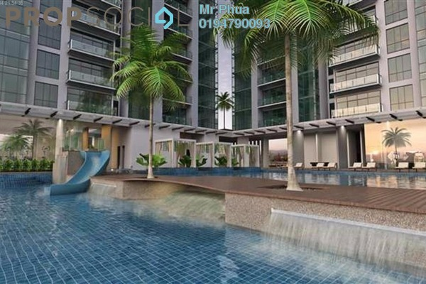 For Rent Apartment at The Latitude, Tanjung Tokong Freehold Semi Furnished 4R/4B 2k