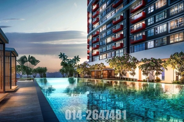 For Sale Serviced Residence at Tropicana Metropark, Subang Jaya Freehold Unfurnished 1R/1B 488k