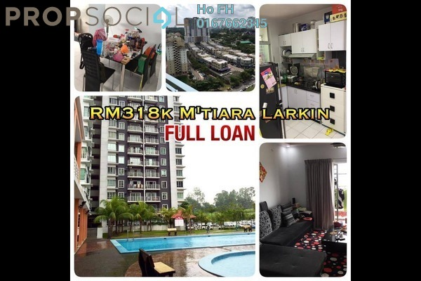 For Sale Apartment at M'Tiara Apartment, Johor Bahru Freehold Fully Furnished 3R/2B 318k