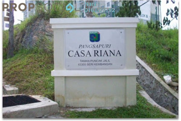 For Rent Apartment at Casa Riana, Bandar Putra Permai Leasehold Fully Furnished 2R/2B 1.3k