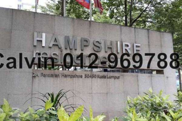 For Sale Condominium at Hampshire Residences, KLCC Freehold Semi Furnished 3R/4B 2.4m